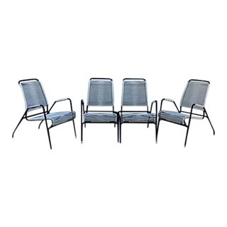 Mid-Century Patio Chairs & Bench - Set of 3