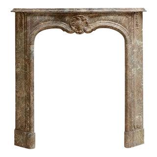 Beautiful Petite Marble Régence Style Fireplace Mantel