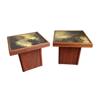 John Keal for Brown Saltman End Tables - A Pair