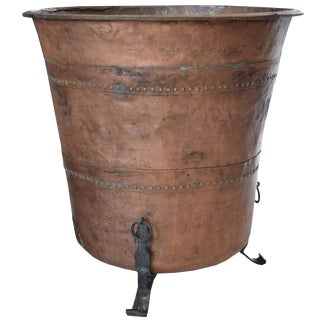 Swiss Copper and Iron Chocolate Vat