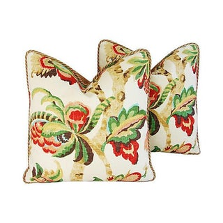 Custom Schumacher Kelmscott Manor Pillows - A Pair
