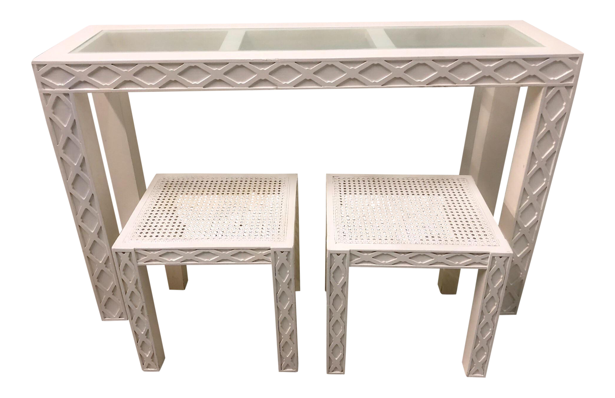 Chippendale Style Console Table U0026 2 Side Tables