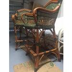 Image of Grange Wicker Bar Chairs - Set of 4
