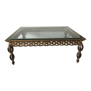 Hollywood Regency Style Gold & Silver Gilt Table