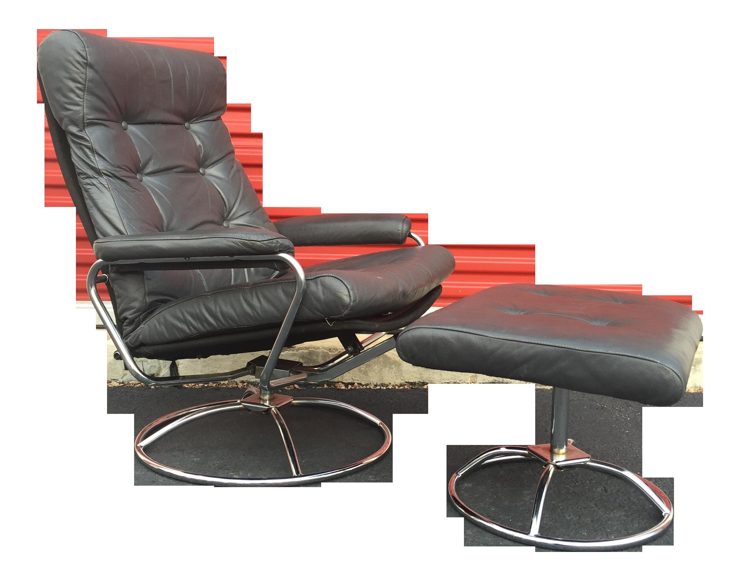 vintage ekornes asa stressless recliner and ottoman - Stressless Chair