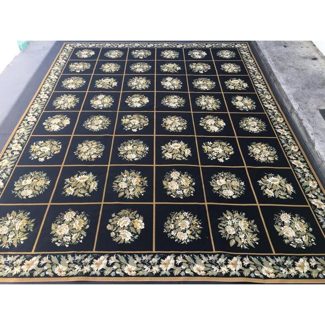 Stark Floral Motif Area Rug - 11′2″ × 14′6″ - Image 4 of 10