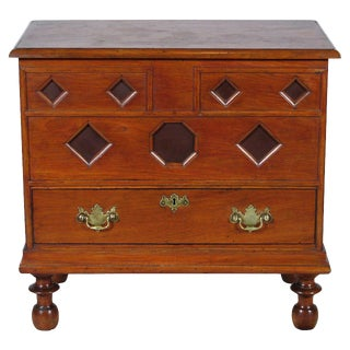 19th-C Antique Early American-Style Blanket Chest