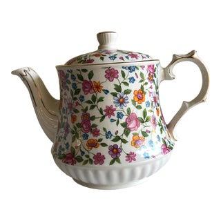 Vintage English Floral Chintz Tea Pot