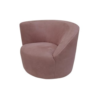 Vladimir Kagan Nautilus Swivel Arm Chair