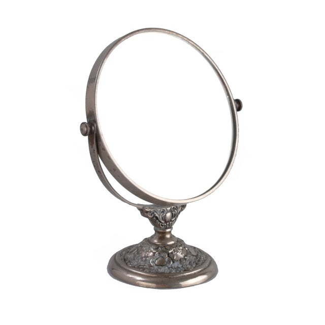 Silver-Plate Vanity Mirror - Image 4 of 9