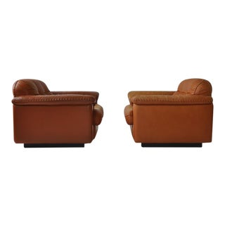 """Pair of De Sede """"DS-101"""" 1969 Leather Lounge Chairs"""