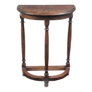 19th-C. English Demilune Table