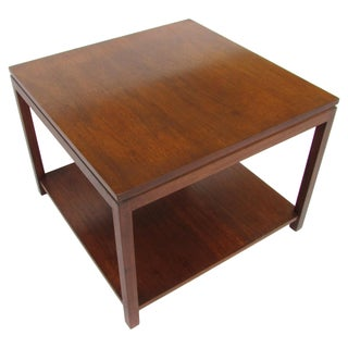 Mid Century Wormley-Style Walnut Coffee Table