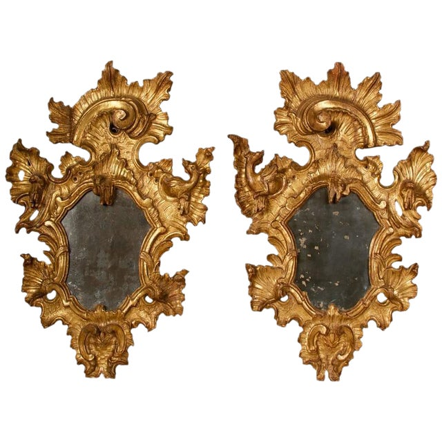 18th Century Rococo Giltwood Mirrors - A Pair - Image 1 of 9