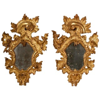 18th Century Rococo Giltwood Mirrors - A Pair