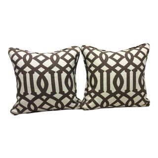 Brown & Neutral Pillows - A Pair