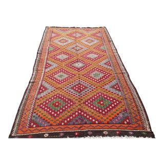 Vintage Turkish Kilim Rug - 5′10″ × 11′5″