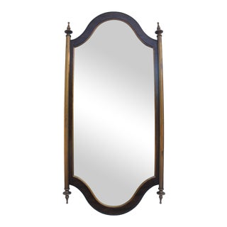 Hollywood Regency Walnut Mirror