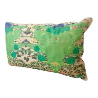 Pulvamacher Designs Modern Abstract Hand Printed Pillow
