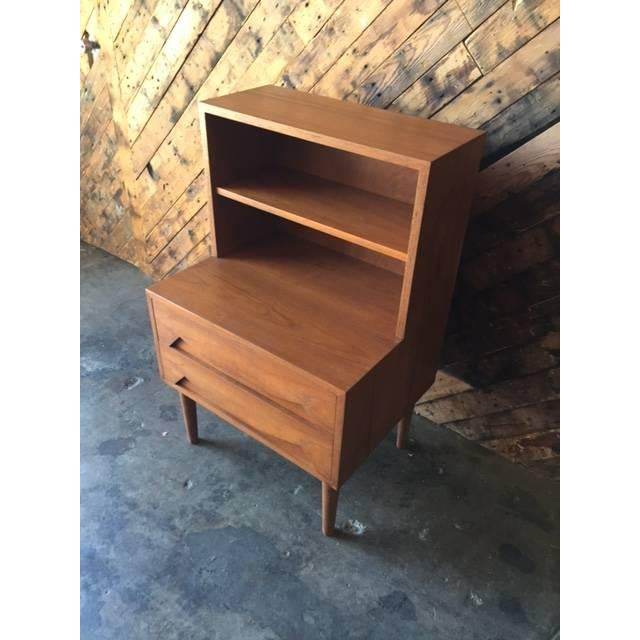 Mid-Century Sculpted Drawer Nightstand - Image 3 of 6