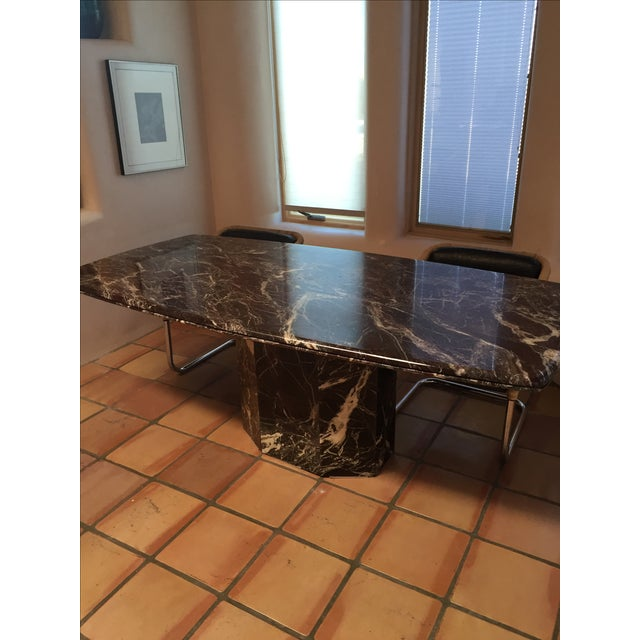 Italian Marble Dining Table - Image 5 of 7