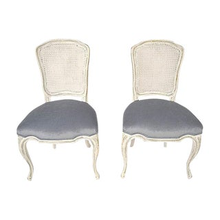 Louis XV Style French Hall Chairs - A Pair