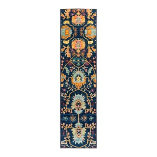 """Eclectic Hand Knotted Runner Rug - 2' 7"""" X 9' 10"""""""