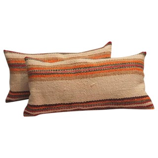 Pair of Navajo Weaving, Saddle Blanket Pillows