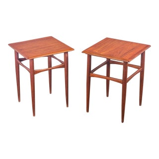Pair of Danish Modern Teak End Tables for Arne Hovmand Olsen