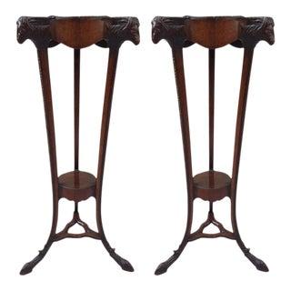 Pair of 18th Century Georgian Mahogany Pedestals