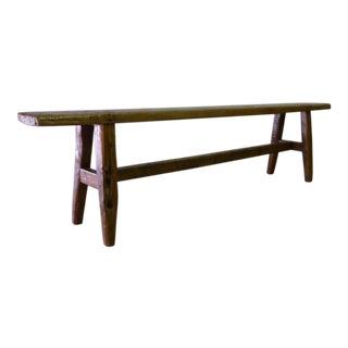 Vintage + Handmade Nakashima Style Rustic Bench