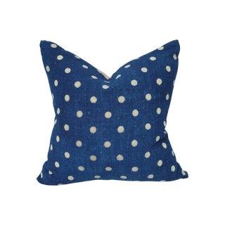 Nubby Homespun Polka Dot Pillow