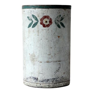 Vintage Hand Painted Waste Can