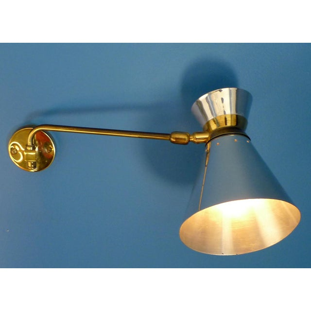Pierre Guariche Style Adjustable Wall Scones - A Pair - Image 6 of 9