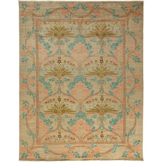 "Arts & Crafts Hand-Knotted Rug - 8' 10"" X 11' 5"""