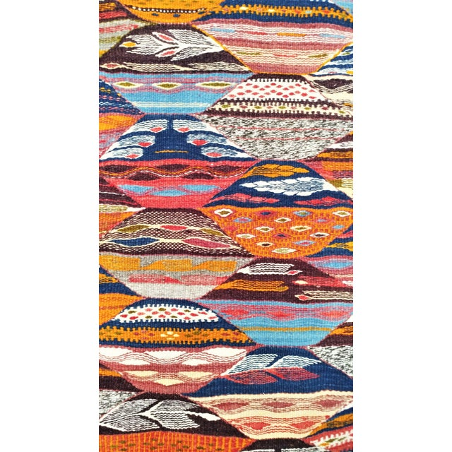 Moroccan Zanafi Reversible Wool Area Rug