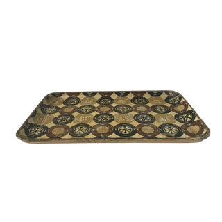 Mid-Century medallion patterned tray