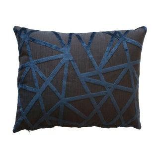 Robert Allen Navy & Charcoal Pillows - A Pair