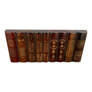 Maitland-Smith Leather Books Factice