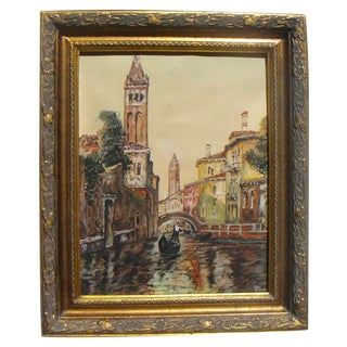 Gondolier Venice Italy Painting by Edna Cogswell