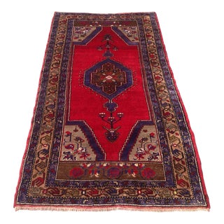 Vintage Anatolian Rug - 3′9″ × 7′1″