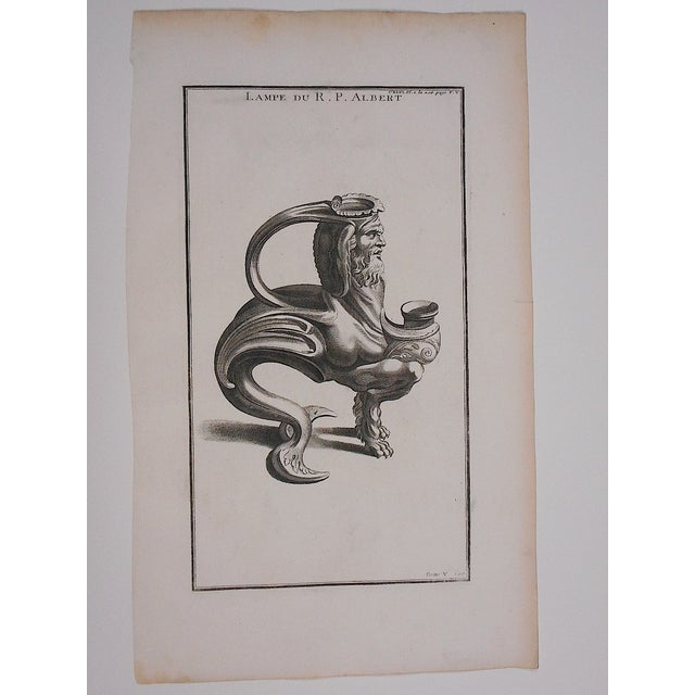 Image of Antique Oil Lamp Engraving