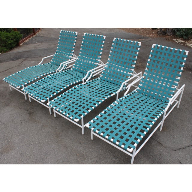 Mid-Century Tropitone 'Cantina' Reclining Patio Lounges - Set of 4 - Image 2 of 11