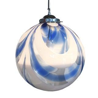 Blue Mid-Century Murano Pendant Light