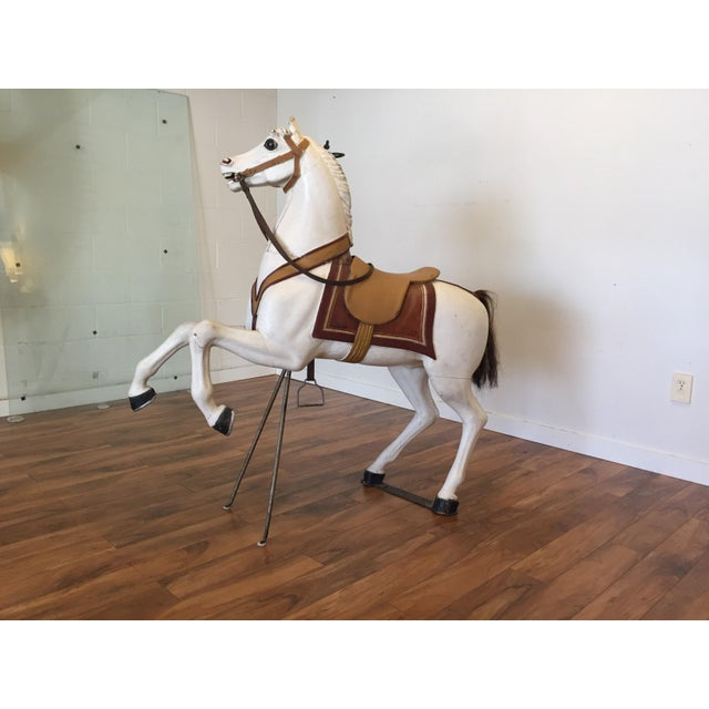 Antique Carved Wood Carousel Horse - Image 7 of 11