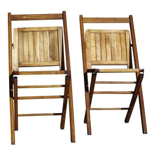 Outdoor Folding Chairs - a Pair