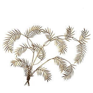 Vintage Gilded Palm Frond Wall Art
