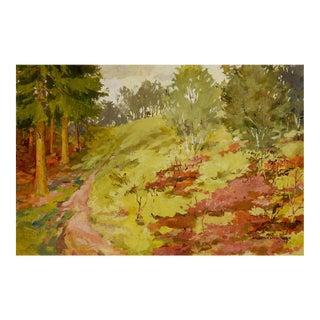 Impressionist Forest Landscape Painting