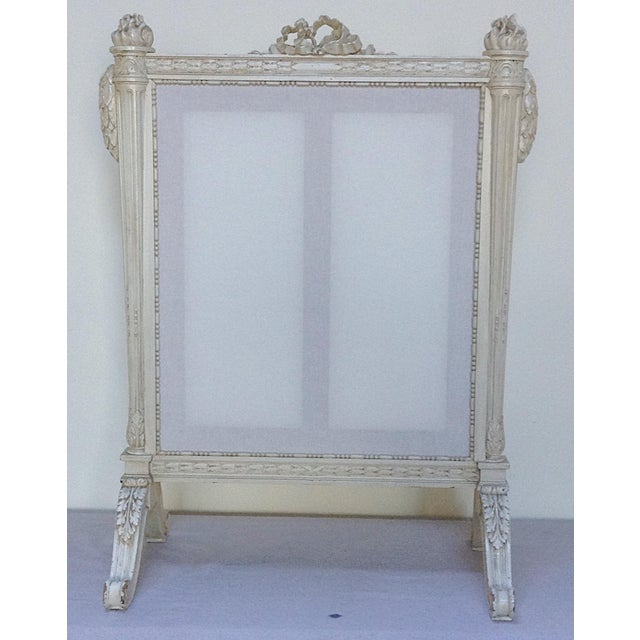 antique french fire screen chairish. Black Bedroom Furniture Sets. Home Design Ideas