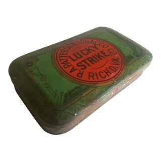 "Vintage Early 1900's ""Lucky Strike R.A. Patterson"" Tobacco Tin Box"